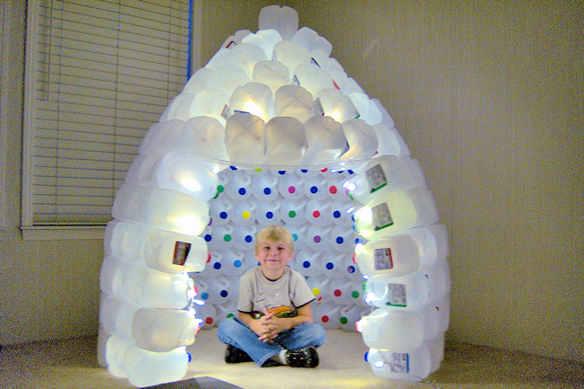 The champion for How to build an igloo out of milk jugs