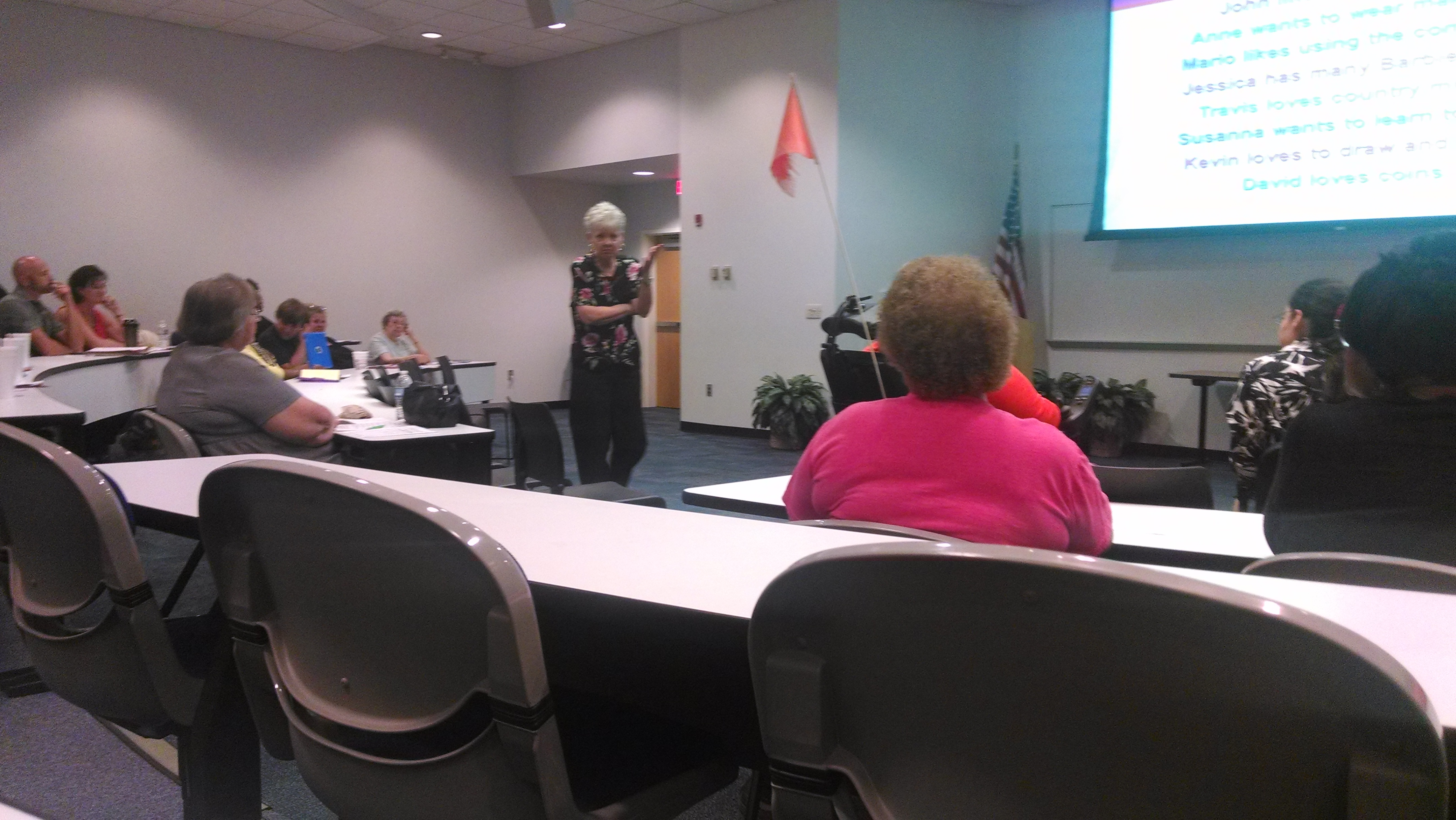 "The Northwest Area Two Family Care Council sponsored Kathie Snow, author of ""Disability is Natural"" to provide training to the Panama City and surrounding communities on June 16, 2015 at the Gulf Coast State college."