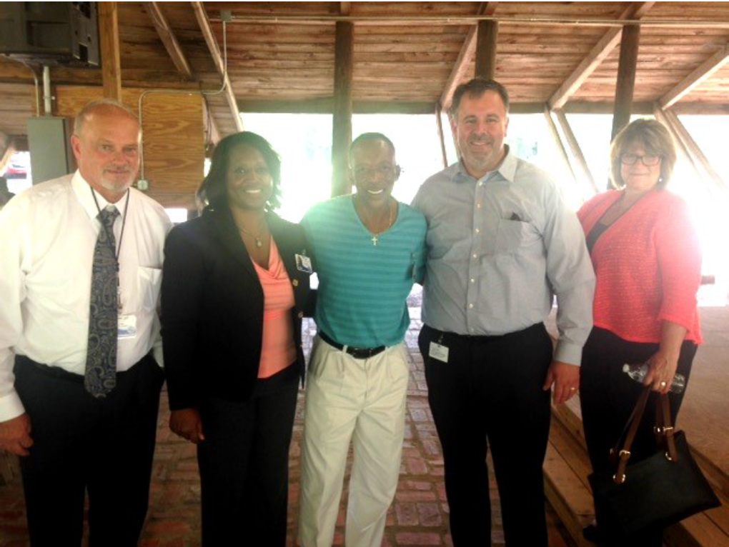 Pictured L-R: Deputy Director Tom Rankin, Superintendent Geri Williams, Billy Quinn, Assistant Superintendent Jon Creamer and Chief of Staff Karen Hagan.