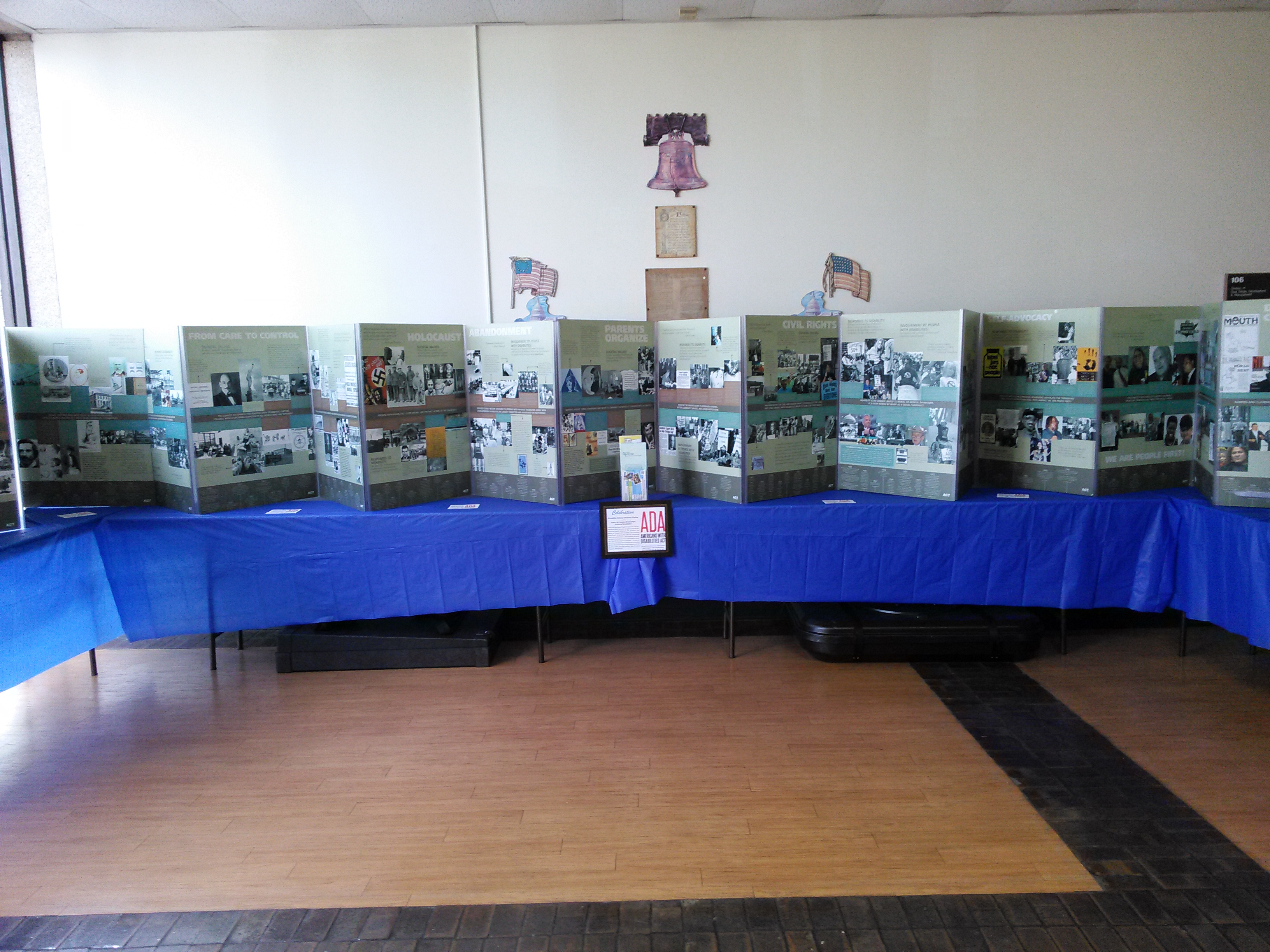 The Disability History Timeline display.
