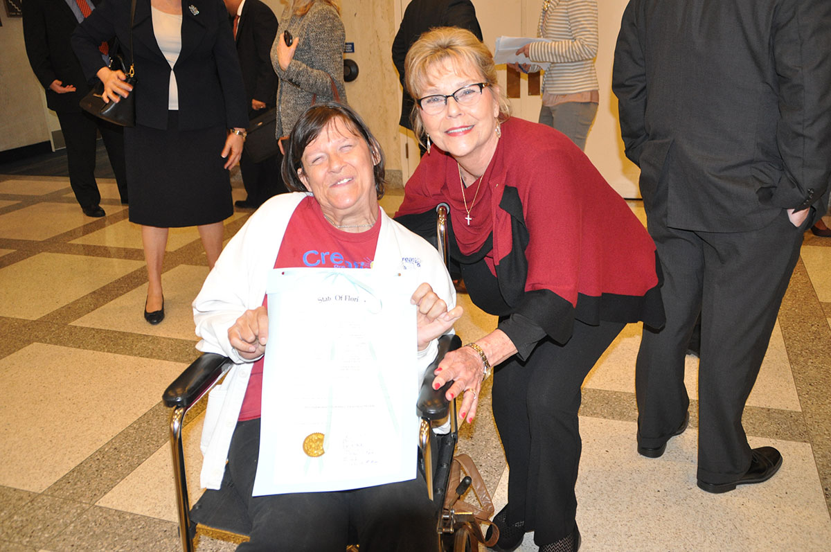 Susan Mikesh and APD Director Barbara Palmer