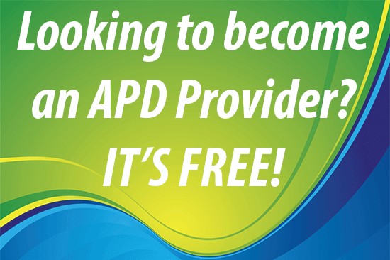 Become an APD Provider